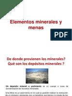 Elementos Minerales y Menas