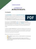 cromatografia ejemplos