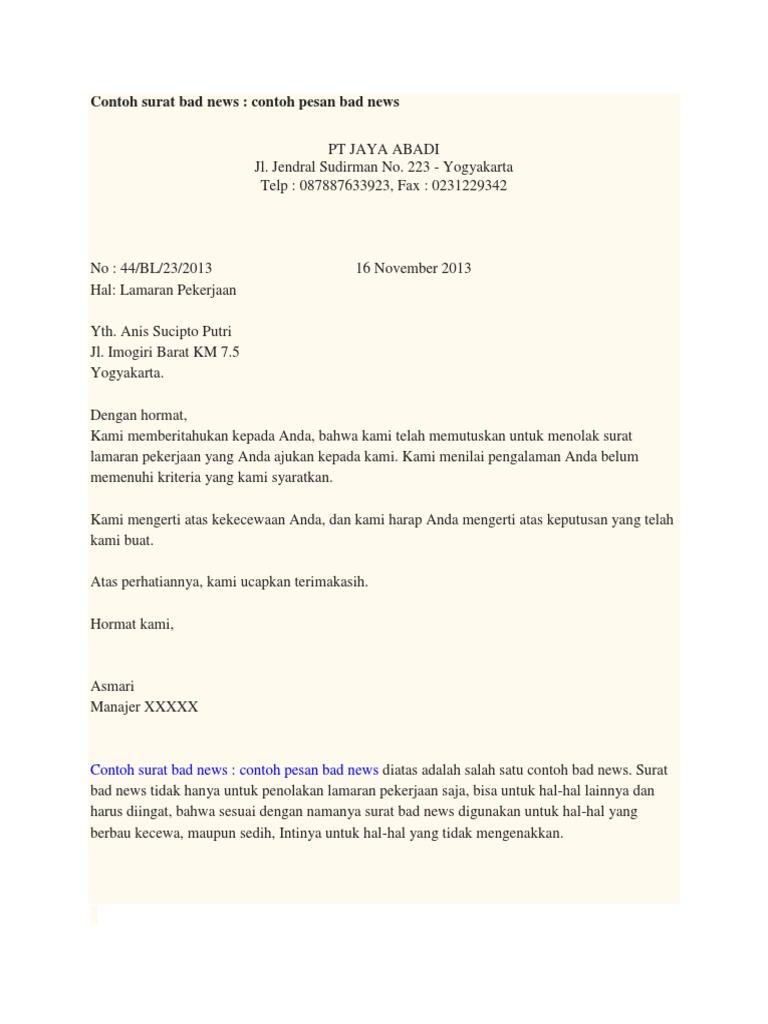 15++ Contoh surat good news komunikasi bisnis terbaru yang baik dan benar