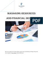 Managing Resources And Financial Decision In Organization