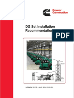Dg Generator Set Installation