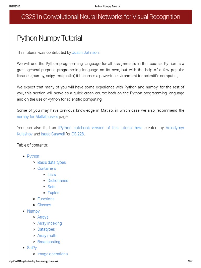 Python Numpy Tutorial (CS231n-Stanford) | Boolean Data Type