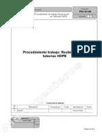 Procedimiento de Trabajo Tuberia HDPE