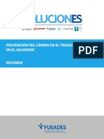 Documento Prevención Del Crimen en El Transporte Público en El Salvador