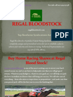 Regal Bloodstock - Top Racehorse Syndicator Australia