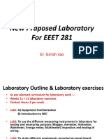 New Praposed Laboratory for EEET 281