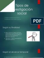 Tipos de Investigacion  Social