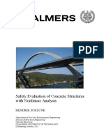 Safety Evaluation of Concrete Structures with Nonlinear Analysis