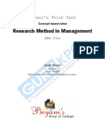 Research Method in Mngg