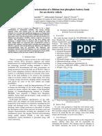 Preparation & Characterization LiFePO4 Battery Bank