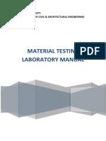 Material Testing Laboratory Manual