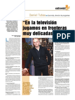 Entrevista a Daniel Tubau en Faro de Vigo