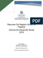 Registro Social de Hogares Entrega