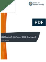 CIS Microsoft SQL Server 2012 Benchmark v1.4.0