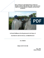 Understanding Conflict and Indiginous Conflict Resoultion Strategies Among the Oromo