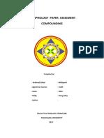 Morphology Paper Assigment