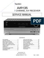 Harman-kardon Avr-135 Channel 6.1 Receiver