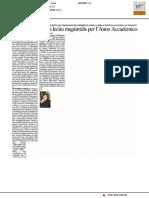Sarà Maurizio Viroli a fare la lectio magistralis per l'Anno Accademico - Il Resto del Carlino del 4 novembre 2017