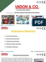 Autoclave Sterilizer Manufacturer Supplier Tanco Autoclave