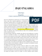 Call for Papers - Bajo Palabra