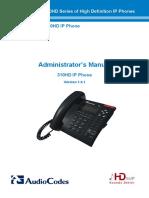 LTRT-09906 310HD IP Phone Administrator's Manual v1.4.1