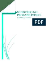 Muestreo No Probabilístico.