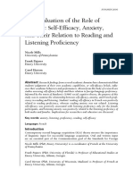 Listening Anxiety and Proficiency