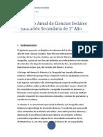 Proyecto Anual de Ciencias Sociales 1
