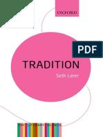 Tradition_ a Feeling for the Li - Seth Lerer