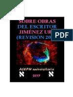 Sobre Obras Literarias Del Escritor Jiménez Ure (Revisión 2017)