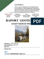 Raport Geotehnic Valenii de Munte