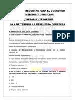 Banco de Preguntas Cargo Secretaria- Tesoreria