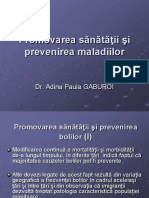 1. Cercetare - Promovarea Sanatatii Si Prevenirea Maladiilor