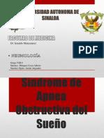 Sx de Apnea Obstructiva Del Sueño
