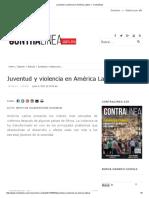 Juventud y Violencia en América Latina — Contralínea