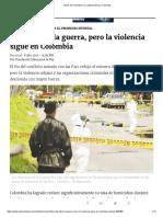 Tasas de Homicidios en Latinoamérica y Colombia