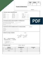 Multiplicaciones 2° básico
