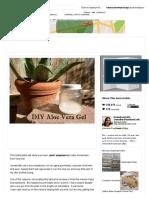 DIY Aloe Vera Gel