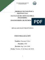 DESALADO ELECTROSTATICO