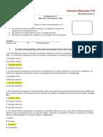 PRUEBA N°1 QUINTO BASICO MIERCOLES 16 DE AGOSTO RESPUESTAS