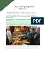 Comida Peruana Como Tener Tu Restaurant