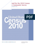 Final 2010 Census and American Community Survey Subjects Notebook