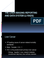 The Liver Imaging-reporting and Data System (Li-rads