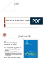 APA Formato y Estilo