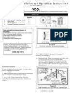 0 515 010 444 -- Tachometer Installation and Operations Instructions Ducati&Rotax