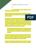Análisis Económico de La Publicidad y Su Impacto Sobre Los Consumidores