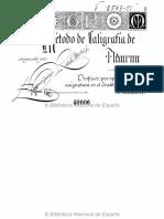 Método de caligrafía de adorno Texto impreso góticas