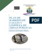 Plan de Barrido de Calles 2017