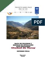 Mapa de Peligros y Medidas de Mitigación Ante Desastres Del Distrito de Taray - Cusco