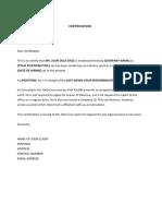 Sample Certificate Employment PDF (1)